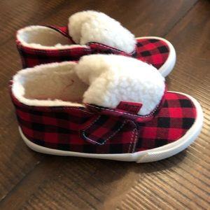Red plaid Elmo shoes